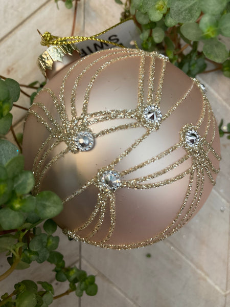 Pink & Gold Sparkle Bauble