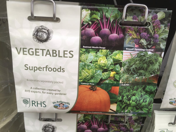 RHS Vegetables Superfoods Seed Collection