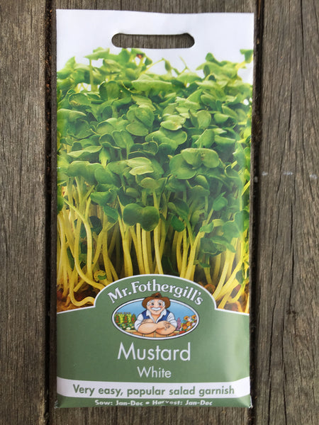 Mustard White seeds Mr Fothergill's