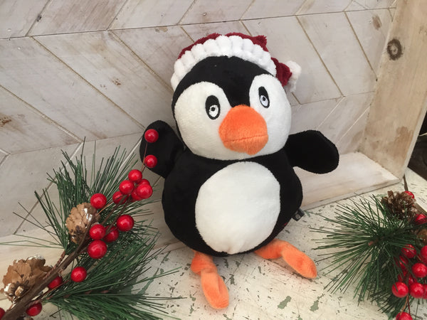 Plush Festive Penguin Dog Toy