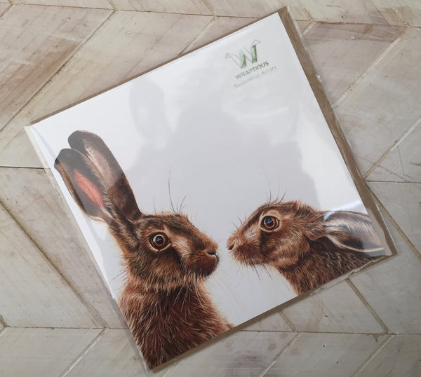Hare Greetings Card-Wraptious