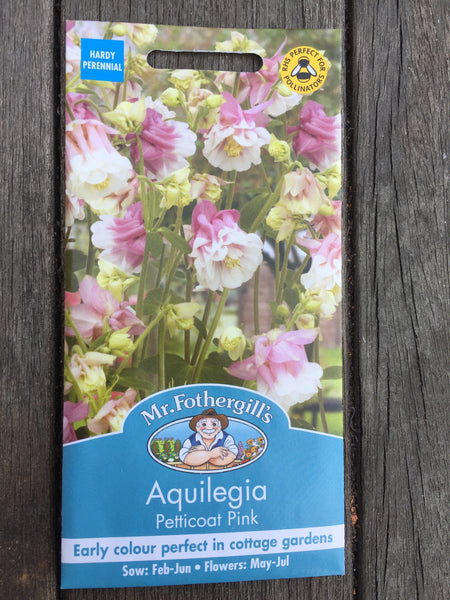 Aquilegia Petticoat Pink Seeds by Mr Fothergill's