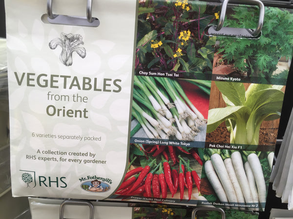 RHS Vegetables from The Orient Seed Collection