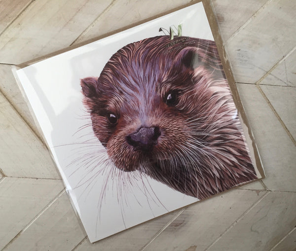 Otter Greetings Card-Wraptious