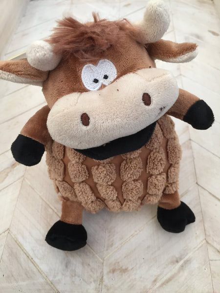 Plush Cow Dog Toy