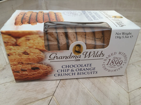 Grandma Wild's Chocolate Chip & Orange Crunch  Biscuits