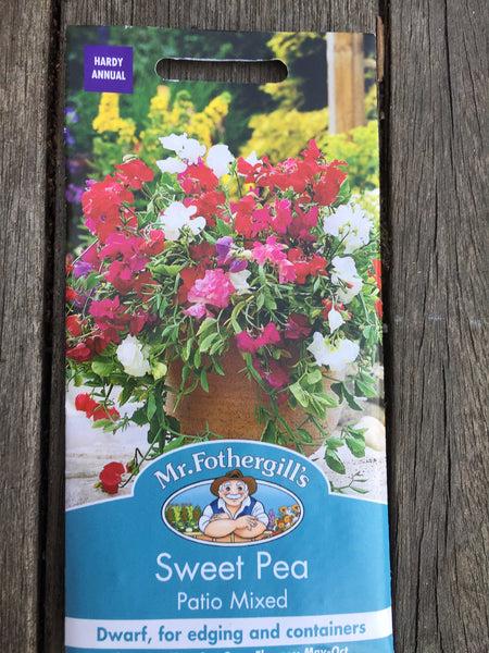 Sweet Pea Patio Mixed Seeds by Mr Fothergill's