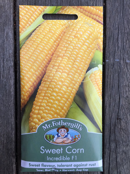 Fothergill's Sweet Corn Incredible F1 seeds