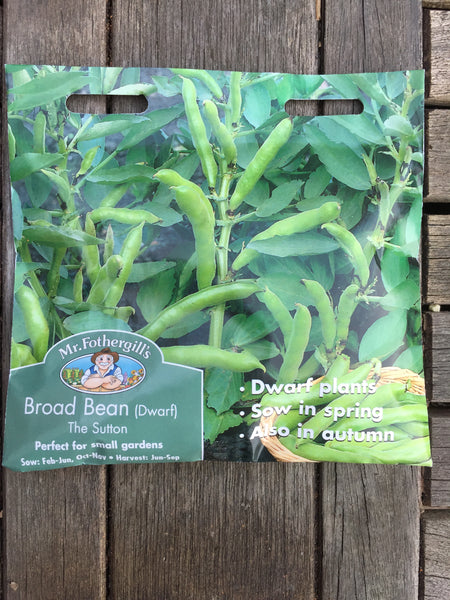 Mr Fothergill's Broad Bean The Sutton (dwarf) seeds