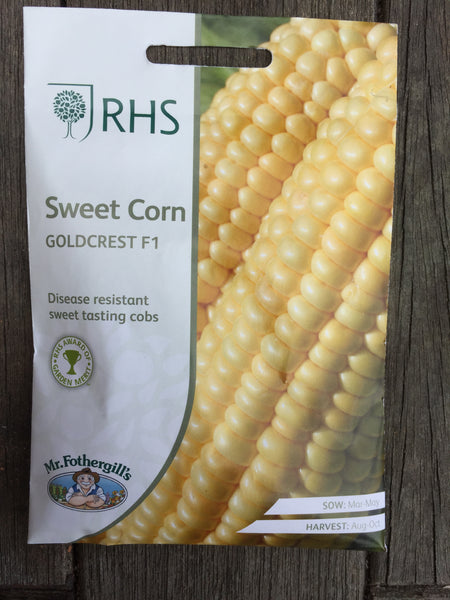 RHS Sweet Corn Goldcrest F1 seeds