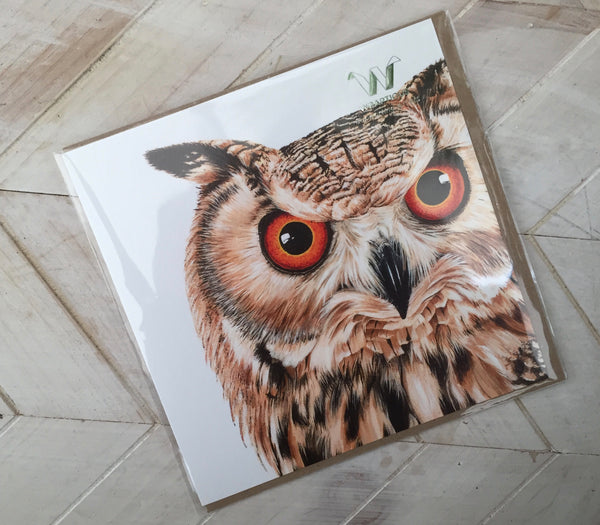 Owl Greetings Card-Wraptious