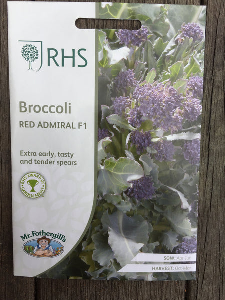 RHS Broccoli Red Admiral F1 seeds