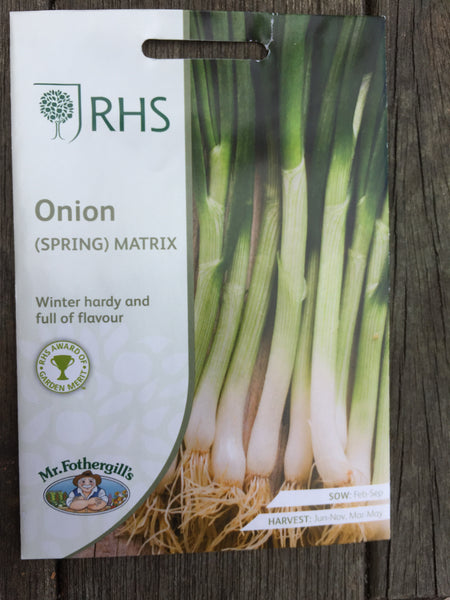RHS Spring Onion Matrix seeds