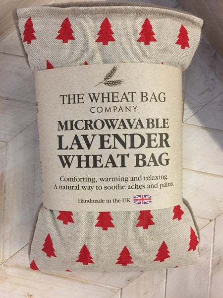 Red Christmas Tree Print Lavender Scented Wheat Bag