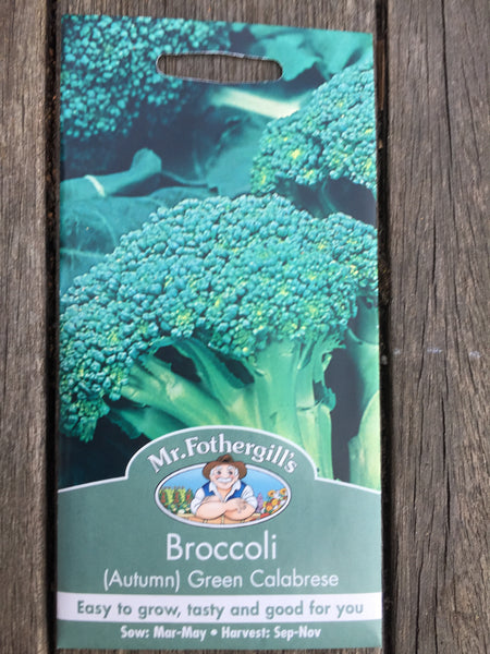 Broccoli (Autumn) Green Calabrese seeds Mr Fothergill's