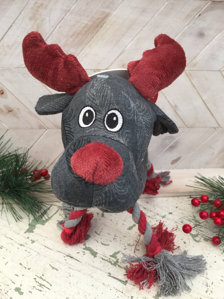Feather Print Reindeer Dog Toy