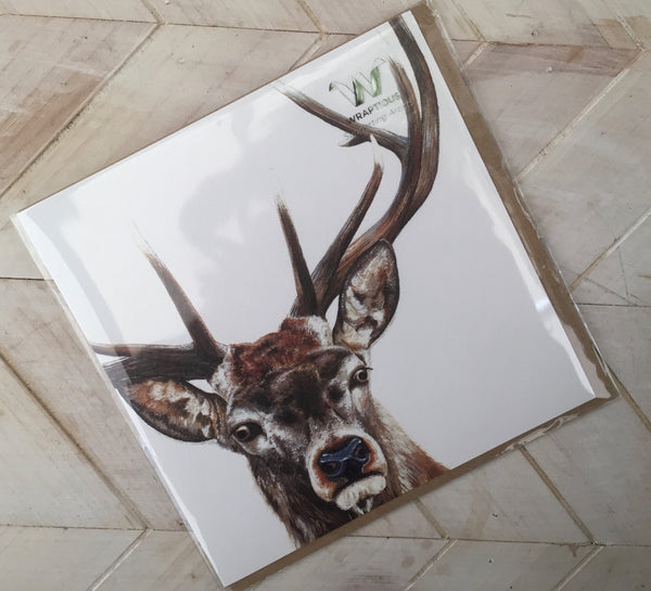 Stag Greetings Card-Wraptious