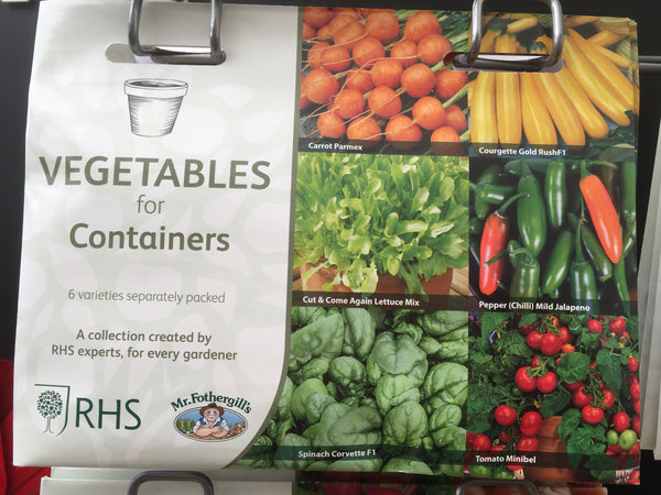 RHS Vegetables for Containers Seed Collection
