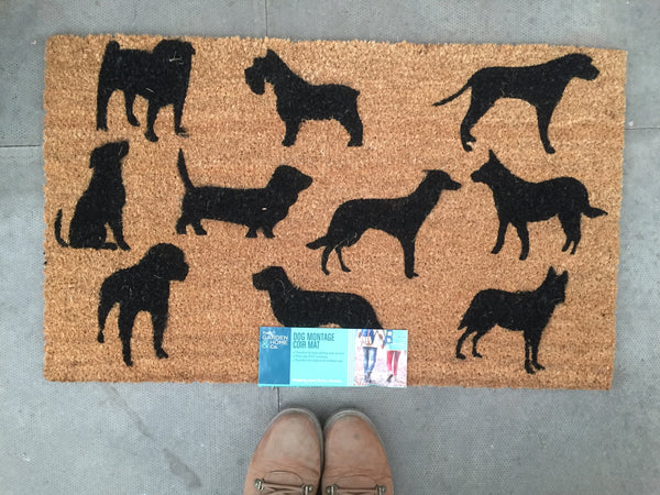 Black Dogs Doormat