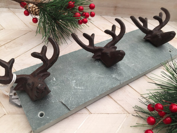 Stag Slate Coat Hook