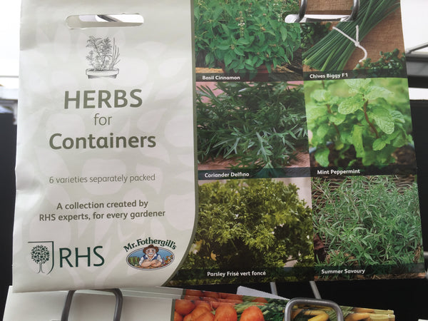 RHS Herbs for Containers Seed Collection