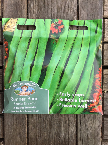 Mr Fothergill's Runner Bean Scarlet Emperor seeds