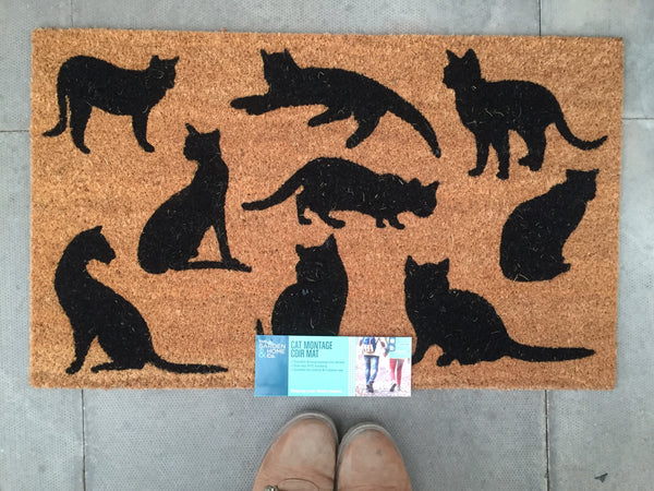 Black Cats Doormat