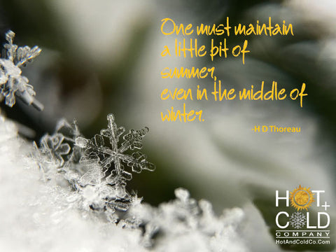 One must maintain a little bit of summer, even in the middle of winter - HD Thoreau
