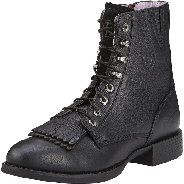 Women's Heritage Lacer II- Black Deertan - West 20 Saddle Co.