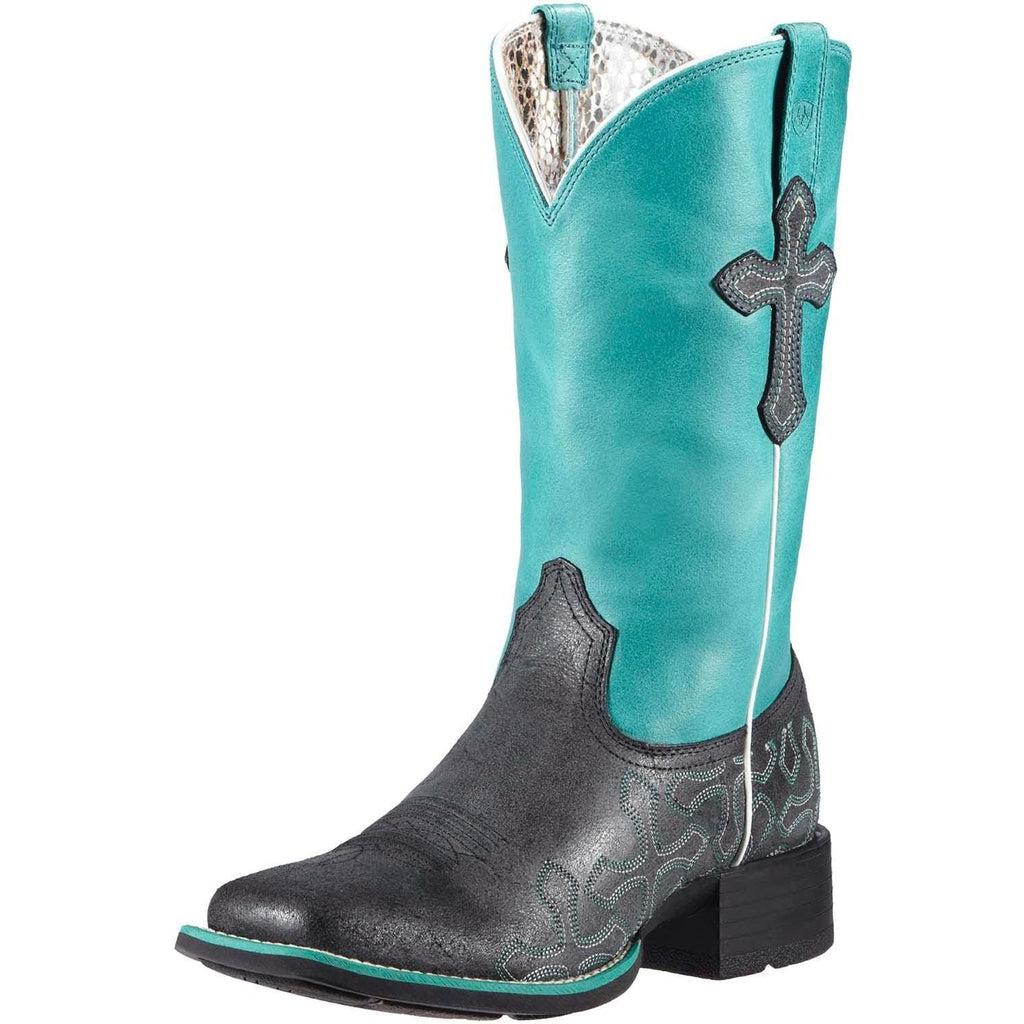 Ariat Women's Crossroads Boot-Anthracite/Blue