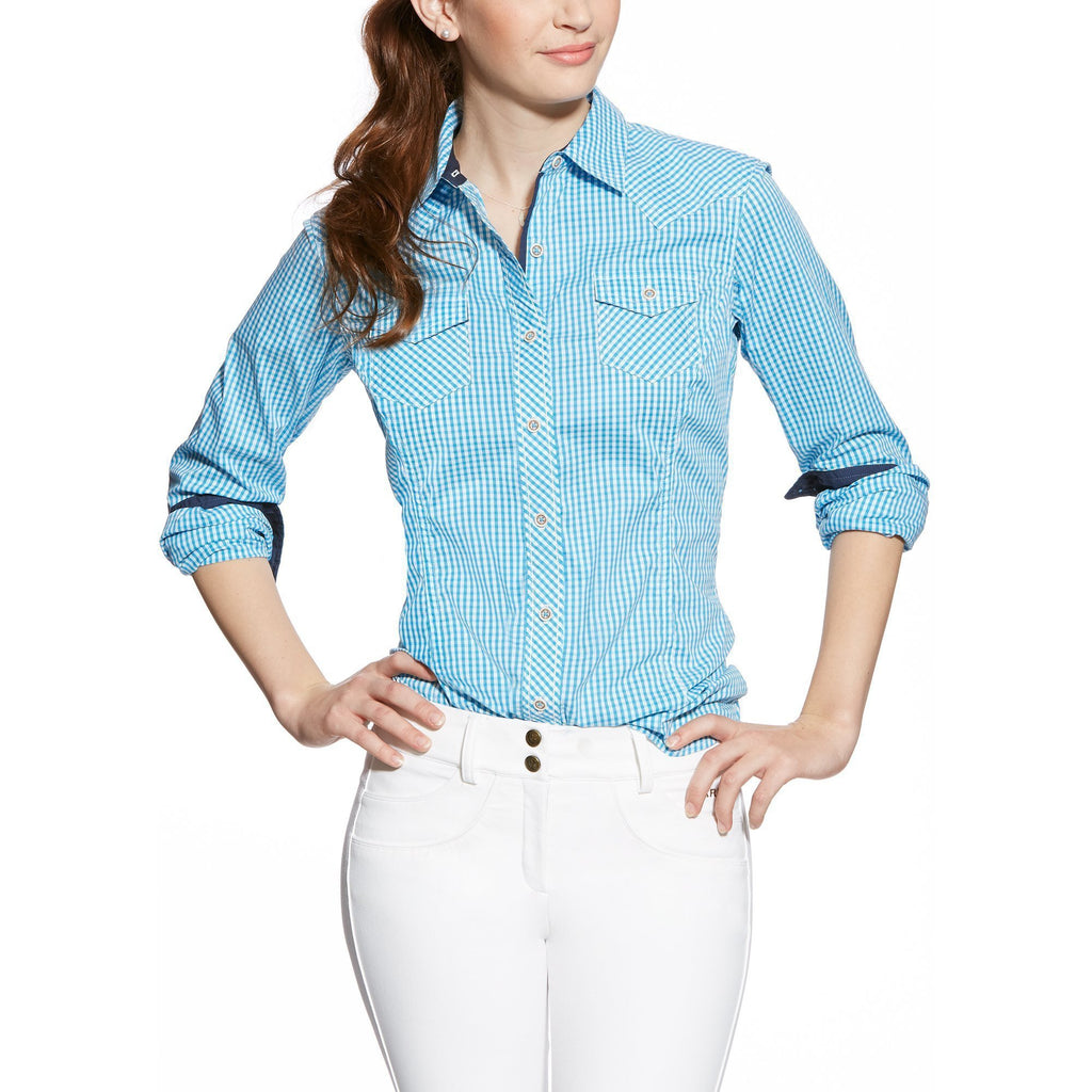 Ariat Karli Shirt Scuba Blue - West 20 Saddle Co.
