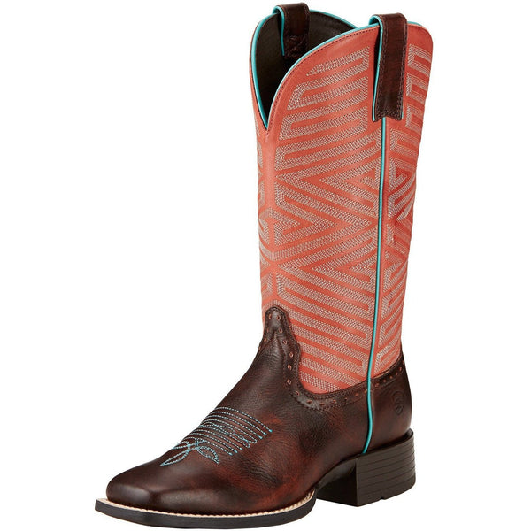 Ariat Women's Outsider Yukon Brown/ Fiery Red Boot