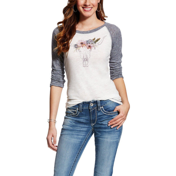 Ariat Desert Rose Baseball Tee - West 20 Saddle Co.
