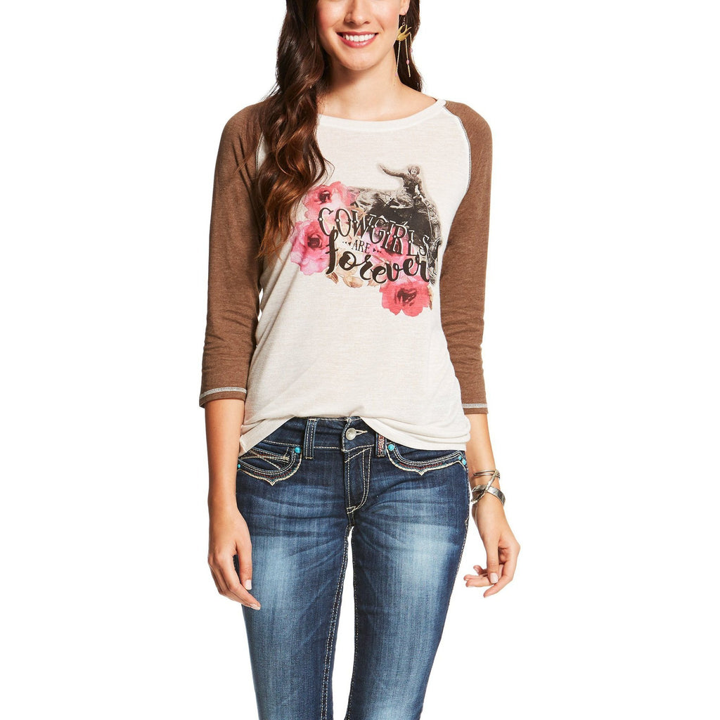 Ariat Forever Baseball Graphic Tee - West 20 Saddle Co.