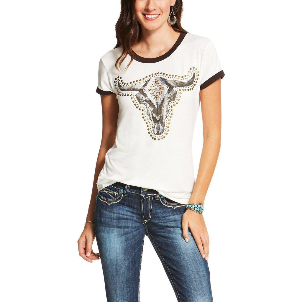 Ariat Ranger Steer Head Tee - West 20 Saddle Co.