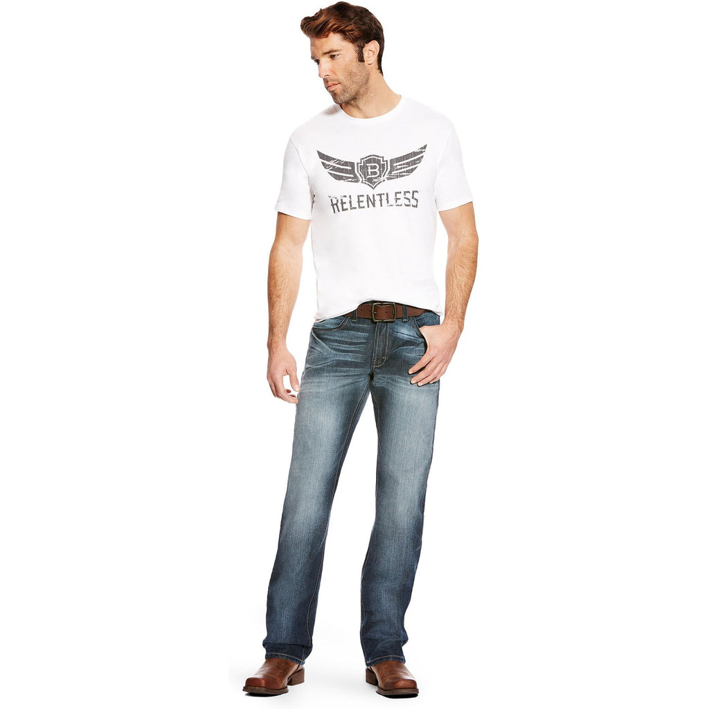 Ariat Trevor Brazile White Logo Graphic Tee - West 20 Saddle Co.