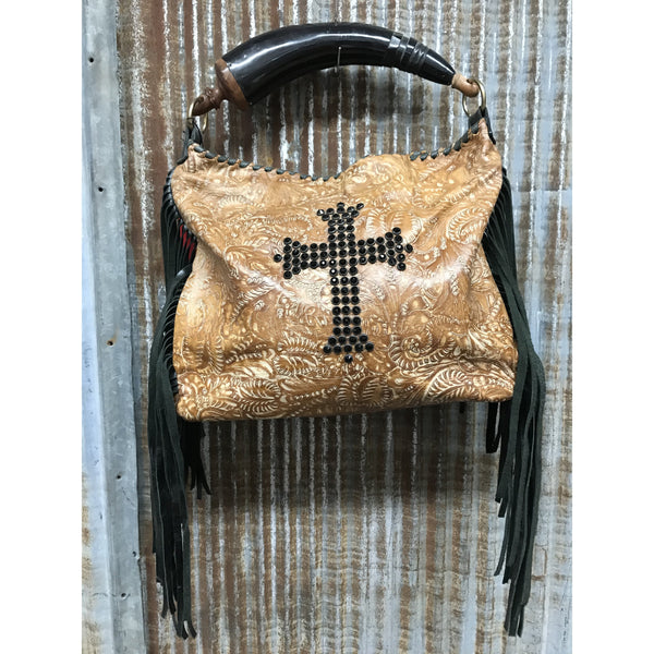 KurtMen Cross and Fringe Purse