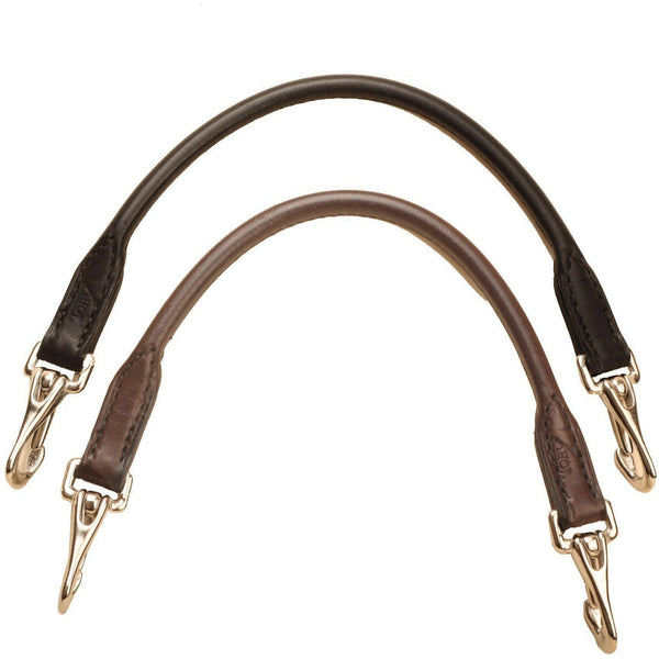 Tory Leather Rolled Bridle Leather Grab Strap With Snap Ends - West 20 Saddle Co.