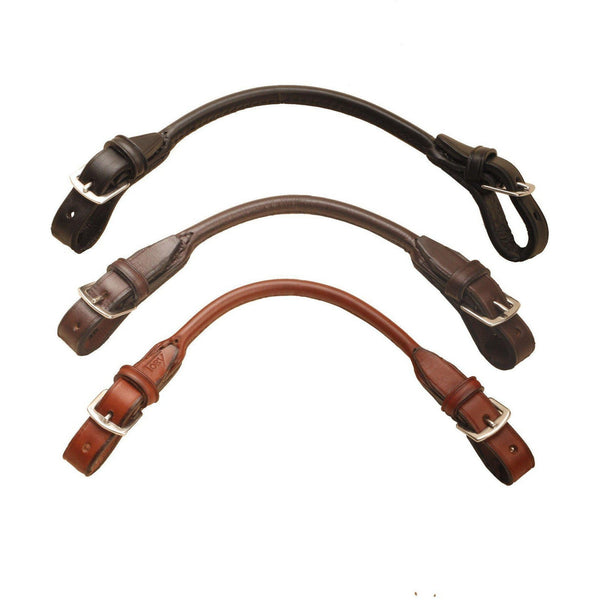 Tory Leather Rolled Bridle Leather Grab Strap With Buckle Ends - West 20 Saddle Co.