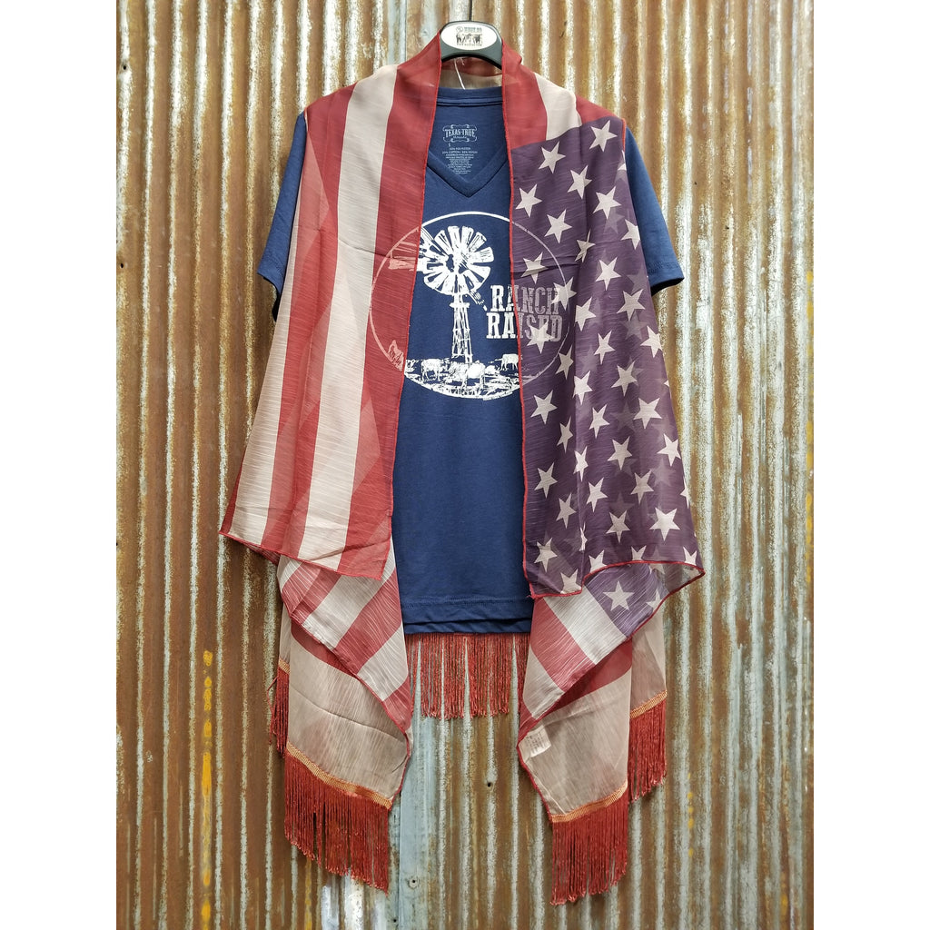 West 20 Saddle Co. Flag and Fringe Kimono