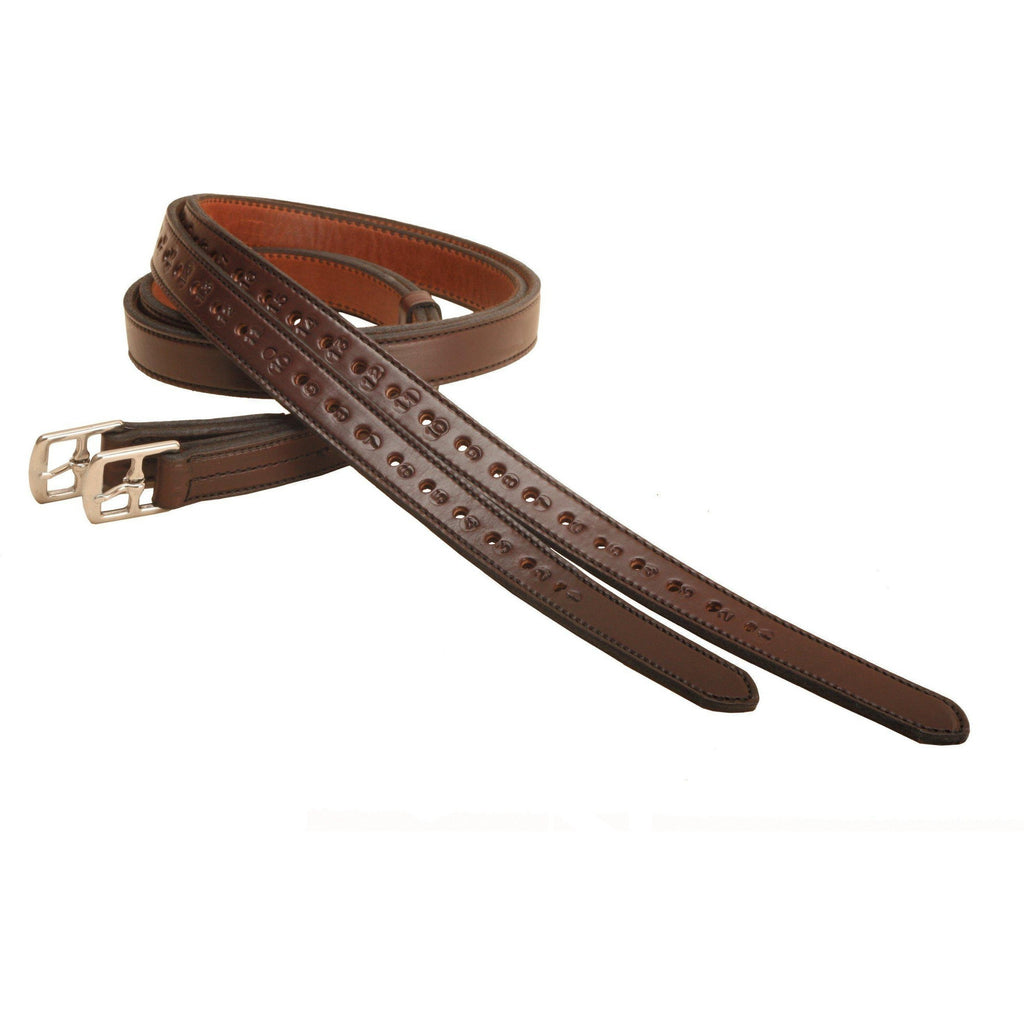 Tory Leather Half Hole Lined Stirrup Leathers - West 20 Saddle Co.