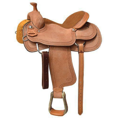 Court's 1552W Roughout/Eiffle Border Roper Saddle - West 20 Saddle Co.