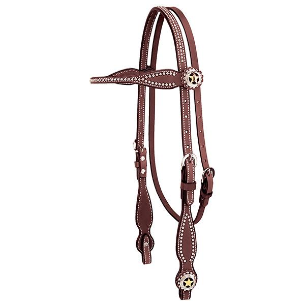 Weaver Leather Texas Star Browband Headstall - West 20 Saddle Co.