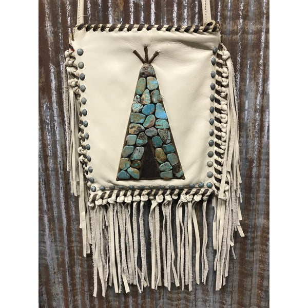KurtMen Bone Tepee Crossbody Bag