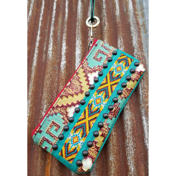 KurtMen Bright Beadwork Accessory Pouches With Wristlet - West 20 Saddle Co.