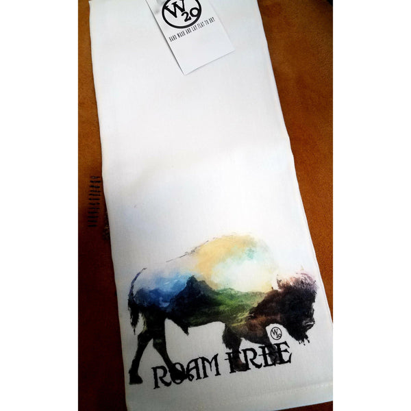 West 20 Saddle Co. Roam Free Tea Towel - West 20 Saddle Co.