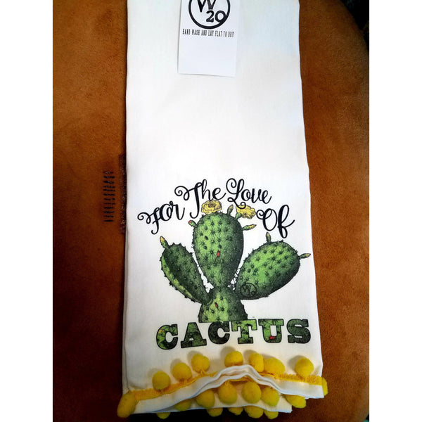 West 20 Saddle Co. For The Love Of Cactus Tea Towel - West 20 Saddle Co.