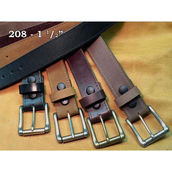 "West 20 Saddle Co. 1 1/2"" Fine Leather Belts - West 20 Saddle Co."