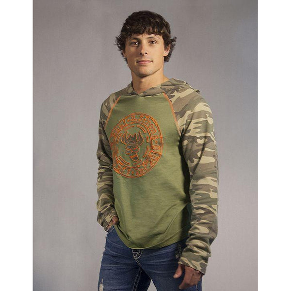 Green Camo Hoodie - West 20 Saddle Co.