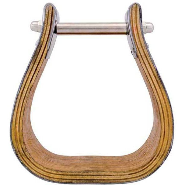 "5"" Stainless Steel Covered Wooden Stirrups"